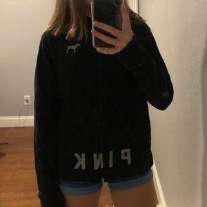 PINK Black Zip-Up Jacket